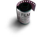 download Film clipart image with 315 hue color