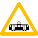 download Roadsign Tram clipart image with 45 hue color