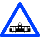 download Roadsign Tram clipart image with 225 hue color