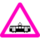 download Roadsign Tram clipart image with 315 hue color
