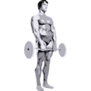 download Posing Bodybuilder clipart image with 45 hue color