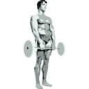 download Posing Bodybuilder clipart image with 315 hue color