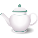 download Teapot clipart image with 315 hue color