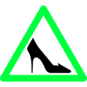 download Shoe Traffic Sign clipart image with 135 hue color