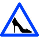 download Shoe Traffic Sign clipart image with 225 hue color