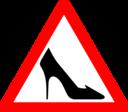 Shoe Traffic Sign