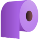 download Toilet Paper Roll clipart image with 315 hue color