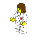 Lego Town Female Doctor