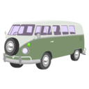 download Camper Van clipart image with 45 hue color