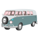 download Camper Van clipart image with 135 hue color