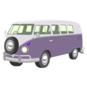 download Camper Van clipart image with 225 hue color