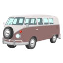 download Camper Van clipart image with 315 hue color