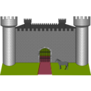 download Fortress Fantasy clipart image with 315 hue color