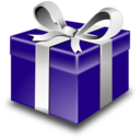 download Purple Present clipart image with 315 hue color