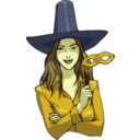 download Witch clipart image with 45 hue color