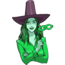 download Witch clipart image with 135 hue color