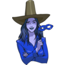 download Witch clipart image with 225 hue color