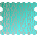 download Isometric Weave Gradients clipart image with 135 hue color