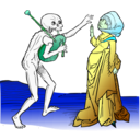 download Dance Macabre 9 clipart image with 135 hue color