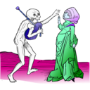 download Dance Macabre 9 clipart image with 225 hue color