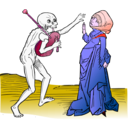 download Dance Macabre 9 clipart image with 315 hue color