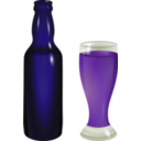 download Bottle And Glass clipart image with 225 hue color