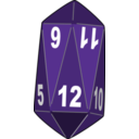 download Dice clipart image with 45 hue color