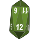 download Dice clipart image with 225 hue color