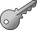 Grey Shaded Key