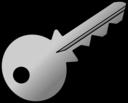 Grey Shaded Key