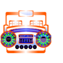 download Mini Boom Box Fuschia clipart image with 45 hue color