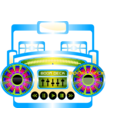 download Mini Boom Box Fuschia clipart image with 225 hue color