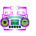 download Mini Boom Box Fuschia clipart image with 315 hue color