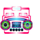 Mini Boom Box Fuschia