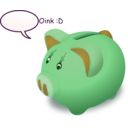 download Piggybank clipart image with 45 hue color