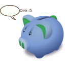 download Piggybank clipart image with 135 hue color