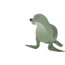 download Grey Seal clipart image with 45 hue color