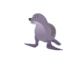 download Grey Seal clipart image with 225 hue color