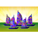 download Sails clipart image with 225 hue color