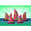 download Sails clipart image with 315 hue color