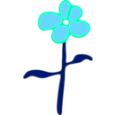 download Flower clipart image with 135 hue color
