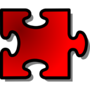Red Jigsaw Piece 14