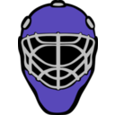 download Goalie Mask Simple clipart image with 135 hue color