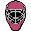 download Goalie Mask Simple clipart image with 225 hue color