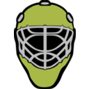 download Goalie Mask Simple clipart image with 315 hue color