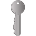 download Key clipart image with 135 hue color