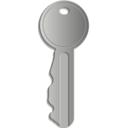 download Key clipart image with 225 hue color