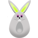 download Easter Egg Bunny clipart image with 135 hue color