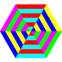 Hexgon Triangle Stripes