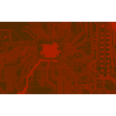 download Circuit Board clipart image with 270 hue color